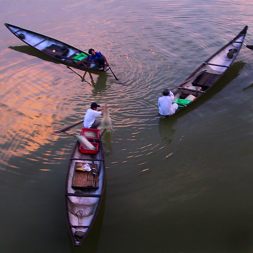 Fishing at dawn on the Perfume River