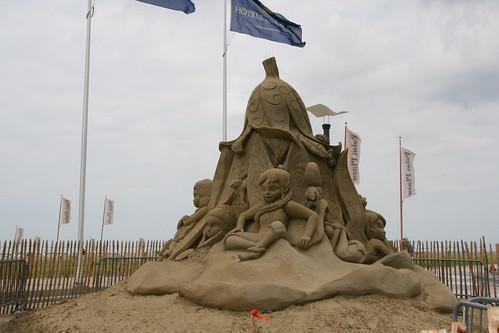 Tinkerbell sand sculpture