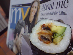 Unagi sushi roll and MX news