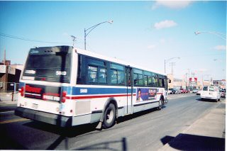Northbound CTA Route # 53 Pulaski Rd bus at West Fullerton Avenue. Chicago Illinois. March 2006. by Eddie from Chicago