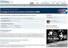 Douglas County Comission 2nd District Democratic primary section