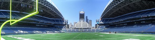 Qwest Field in Panorama
