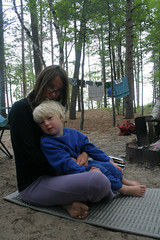 Morning Fire, Sleepy Eyes (Godzuki) Tags: camping beach forest fire nationalpark lakesuperior upperpenninsula picturedrocks algercounty 12milebeach