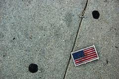 America! (dogwelder) Tags: california gum pavement flag cement ground august sidewalk patch zurbulon6 2008 northhollywood zurbulon gatturphy
