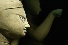 unfinished | Kumortuli (arnabchat) Tags: sculpture india art face artwork god traditional clay idol kolkata bengal puja calcutta bangla durga westbengal kumartuli kumortuli arnabchat arnabchatterjee