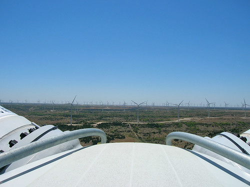 View from the top, windmills