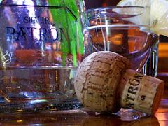 Patron on location with budget lights (Toniwanknobi) Tags: glass night digital canon bottle lemon shot tequila sd 600 flasche patron elph zitrone korken kork