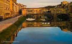 Ponte Vecchio (Federico Alberto) Tags: bridge italy reflection río river puente florence italia olympus reflejo florencia firenze e3 arno nophotoshop nohdr 1260mm goldstaraward olympuse3 zd1260mmswd damniwishidtakenthat