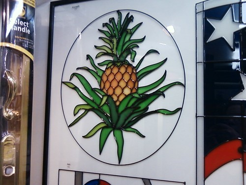 Stained Glass Pineapple Door
