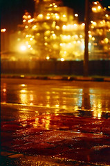 Hope, a fading glow (Fadzly @ Shutterhack) Tags: road light plant hot color industry film nature rain night analog catchycolors asian puddle gold lights highway asia factory kodak bokeh natureza low natur natuur natura noflash gas malaysia processing oil tropical tropic analogue refinery pouring asean terengganu eq