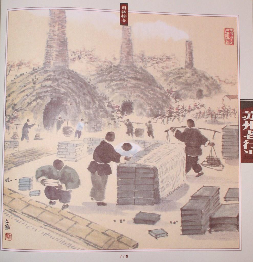 Firing Metallic Tiles ??? - Old lifestyle in Suzhou (China)