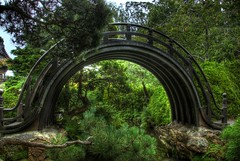 Moon Bridge (Thad Roan - Bridgepix) Tags: sanfrancisco california goldengatepark bridge moon architecture garden arch footbridge drum pedestrian explore japaneseteagarden span hdr bridging photomatix bridgepixing bridgepix 200809