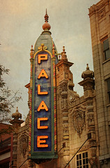 The Palace Theater (deatonstreet) Tags: old building sign architecture vintage theater neon dusk kentucky palace explore spanish louisville baroque 1928 historicpreservation marquis jeffersoncounty ourkentucky