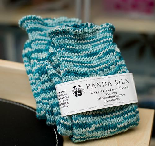 Panda Silk Socks