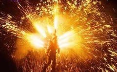 This guy has a death wish (EpicFireworks) Tags: cake fireworks bonfire pyro 13g loud barrage pyrotechnics epicfireworks