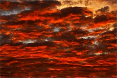 Awakening! (Aperture Image.com) Tags: uk morning red sky clouds spectacular dawn isleofwight tamron cloudscape carisbrooke canon400d bowcombevalley yourphototips blazingsunrise