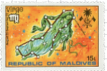 Maldive-Islands Virgo Stamp