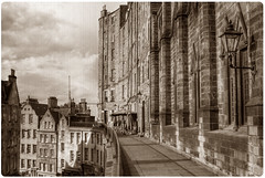 Victoria Terrace, Edinburgh (Surely Not) Tags: street sepia vintage scotland nikon edinburgh terrace antique victoria hdr d80 yourphototips thephotoproject