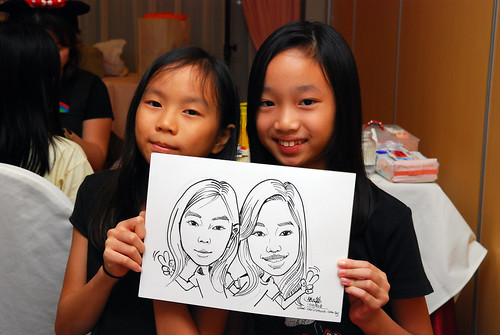 Caricature live sketching for birthday party 2