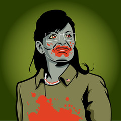 Zombie Palin (Mark Hammermeister) Tags: illustration blood election zombie president humor cartoon gore horror caricature undead romero republican campaign democrat obama vector mccain palin barackobama barack livingdead georgeromero johnmccain sarahpalin election08