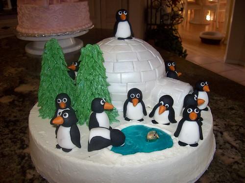 Birthday Cake 35. Penguin Pals - irthday cake