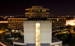 Hotel at TIA (Will C.) Tags: road park street city moon night tia out tampa airport focus long downtown dof village florida bokeh airplanes hyde international area exposures i275 tampainternationalairport