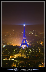 Eiffel tower at night, seen from Tour Montparnasse :: Long Exposure (Erroba) Tags: city longexposure blue paris france night photoshop canon rebel lights belgium eiffeltower tips erlend montparnasse parisatnight cs3 xti 2885mm 400d infinestyle erroba robaye erlendrobaye alemdagqualityonlyclub