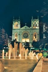 Iglesia de San Lorenzo (iviarroyo) Tags: noche agua gijón fuente iglesia asturias sanlorenzo exposición