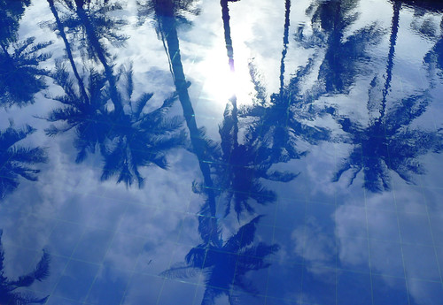 Blue pool, blue sky, blue palms, Phu Quoc, Cassia Cottage