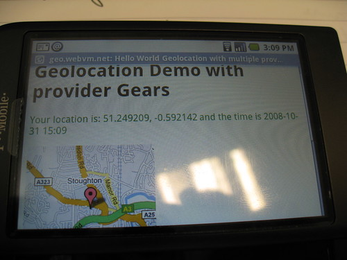Geolocation on Android