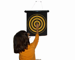 Dart Game (DeLaRam.) Tags: dart play shahrzad gameover darts win orange child mind 80