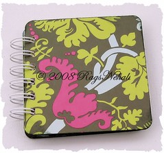 Olive Acanthus - Amy Butler Post It Note Holder