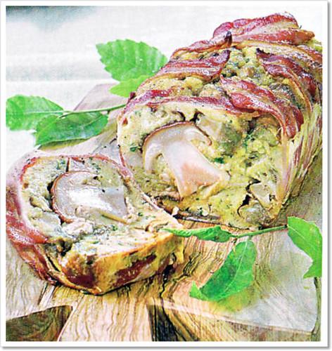 foto terrina porcini e pancetta
