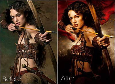 worst edited celebrity images- Keira Knightly