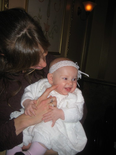 Rosa is her christening dress!