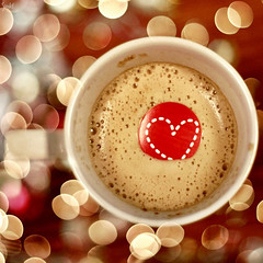 Super duper delicious ({ scarlet }) Tags: coffee yummy heart bokeh cappuccino