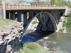 Bridge @ Lundbreck Falls - Revisited (Turniposaurus) Tags: bridge canada river alberta crowsnestpass lundbreckfalls roadtrip2006