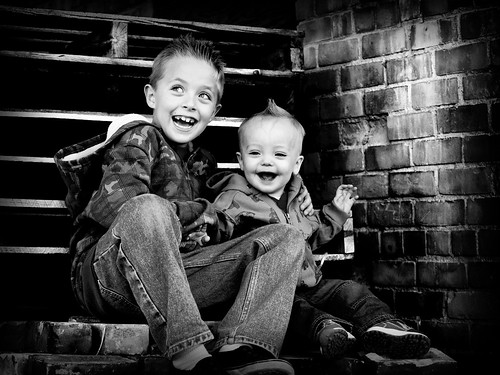 Brady and Bridger on Bricks BW