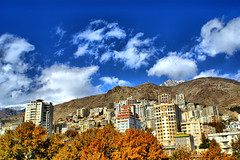 Mountainous Apartments in Autumn, Tehran, Iran (Persia) (eshare) Tags: autumn trees sky cloud mountain mountains tree fall clouds landscape persian apartments apartment iran hill persia hills iranian tehran iranians teheran persians  niavaran   apartmentblocks     kakadoo sonyalphadslra100  sal20f28   sonyalpha20mmf28lens   100 2028