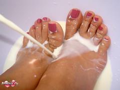 Milky feet