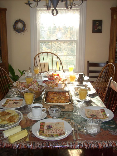 Thanksgiving breakfast