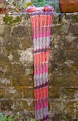 lace ribbon scarf: progress (pacific_rin) Tags: knitting knit knitty veronikavery laceribbonscarf