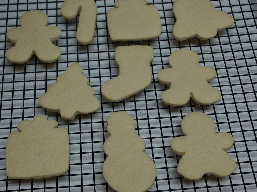 Naked Christmas cookies - ready for decorating.