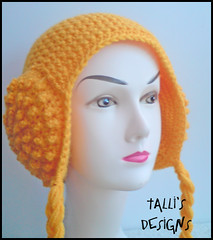 Leia Earmuffs Beanie - Buttercup Yellow (by tallybates)