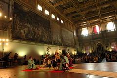 Cerimonia di apertura nel Salone dei Cinquecento