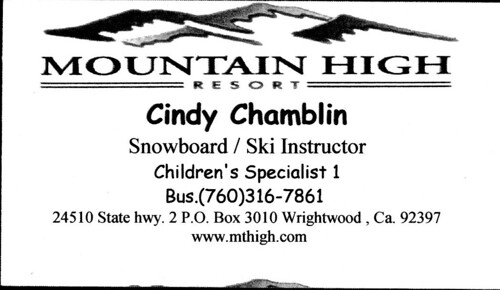 CINDY snowboard ski instructor
