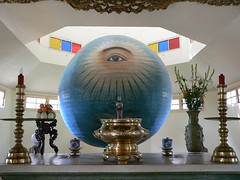 Divine Eye (Sparky the Neon Cat) Tags: eye temple asia vietnamese an altar vietnam divine cao dai da hoi nang danang indochine indochina