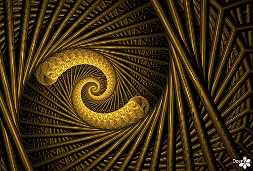 Gold Bubble Spiral