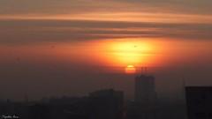 ...something very old... (anka.anka28) Tags: orange sunrise buildings grey poland polska słońce gdańsk pomarańczowy wschód pomorze budynki szary
