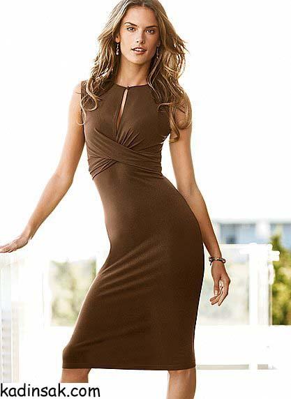 dekolte elbise modelleri